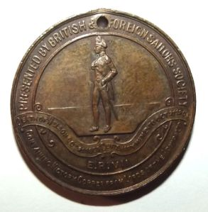 1905 British & Foreign Sailors Society Trafalgar Death of Nelson Centenary Medal