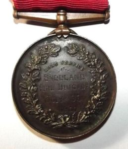 1907 British National Fire Brigades Union Long Service Medal 1