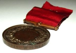 1907 British National Fire Brigades Union Long Service Medal 2