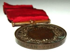1907 British National Fire Brigades Union Long Service Medal 3