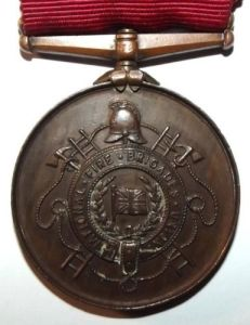 1907 British National Fire Brigades Union Long Service Medal
