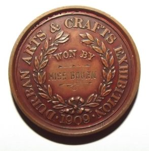 1909 South African Durban Arts & Crafts Exhibition Bronze Medal