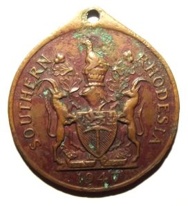 1947 Royal Visit to Southern Rhodesia Medal