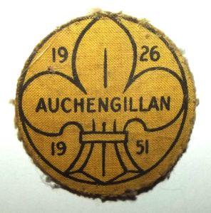 1951 Scotland Auchengillan Boy Scouts 25th Anniversary Patch Badge