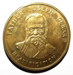 1988 Pope John Paul II Lesotho Papal Visit Father Gerard Beatification Medal 1
