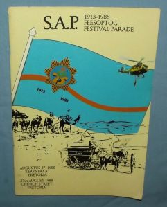 1988 South African Police 75th Anniversary Parade in Pretoria Souvenir Booklet
