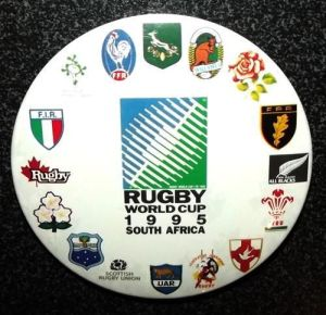 1995 Rugby World Cup Large Metal Lapel Pin Badge