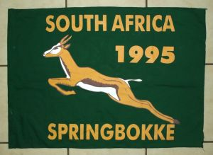 1995 South African Springbok Rugby Flag