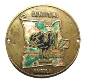 Angola UNITA Cold War Era Metal Badge
