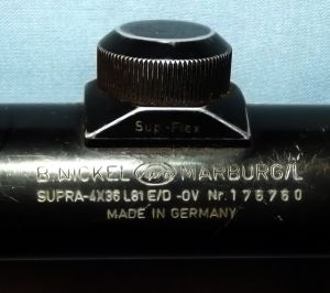 B.NICKEL SUPRA 4 X 36 Sup-Flex Made in Germany Optic Rifle Scope 2