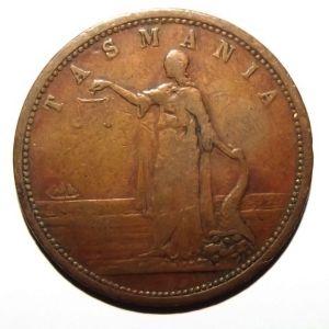 c1860 Australia 1 Penny Robert Andrew Mather Family Draper Hobart Tasmania Token 1