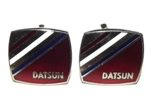 DATSUN Nissan Advertising Metal Cufflinks