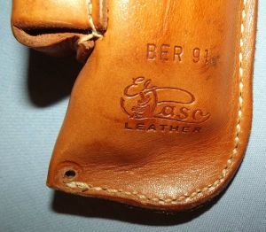 El Paso Leather Brown BER 91 Holster 2