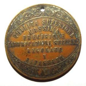 Italian W. Rosskopf & Co Patent Advertising Token Medal 1