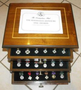 Set of 45 Rhodesian Honours and Awards miniature medals