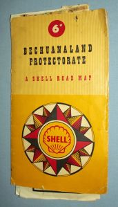 SHELL South African Bechuanaland Protectorate Road Map