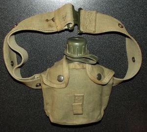 South Africa SADF Bush War Army Web Belt + Water Bottle 1