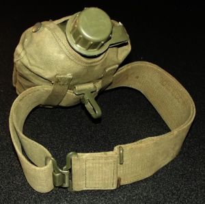 South Africa SADF Bush War Army Web Belt + Water Bottle