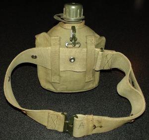South Africa SADF Bush War Army Web Belt + Water Bottle
