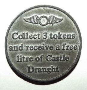 South African Castle Draught Top Gun Beer Token 1