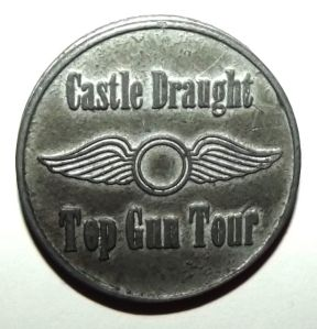 South African Castle Draught Top Gun Beer Token