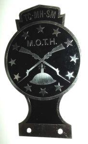South African MOTH Memorable Order of Tin Hats Metal Car Bumper Badge