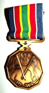 South African Police Service 10 Year Commemoration Type 1 Full Size Medal
