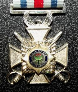 South African Police Service Silver Cross for Bravery Full Size Medal 1