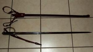 South African Railways Police Officers sword with old SA Coat of Arms 2
