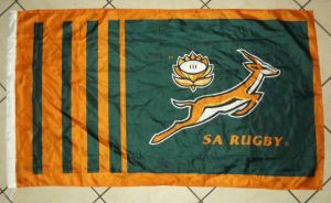 South African Springbok Rugby Flag