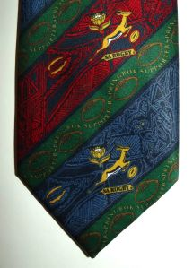 South African Springbok Rugby Supporter Tie