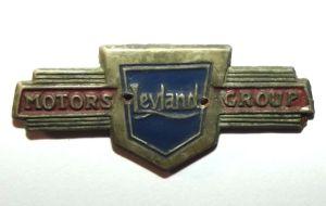Vintage LEYLAND Motors Group Metal Badge