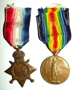 WW1 South African Bilingual Victory Medal Pair