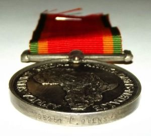 WW2 Africa Service Bilingual Full Size Silver Medal 2
