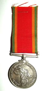 WW2 Africa Service Bilingual Full Size Silver Medal