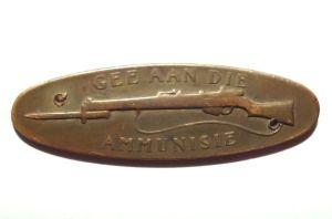 WW2 South African Pass the Ammunition Afrikaans Language Bronze Badge
