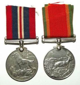 WW2 South African War + Africa Service Full Size Medal Pair