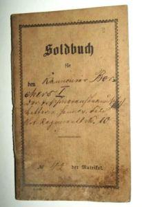 1870 German Empire Soldbuch Book