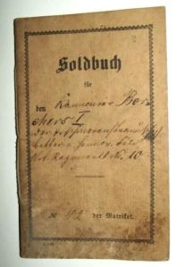 1870 German Empire Soldbuch Book