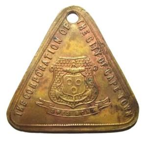 1903 South Africa The Corporation of the City of Cape Town License Token 1