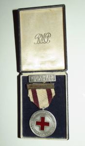 1940 South African Red Cross Silver Marked Mining Captain Award Lapel Pin Medal 1