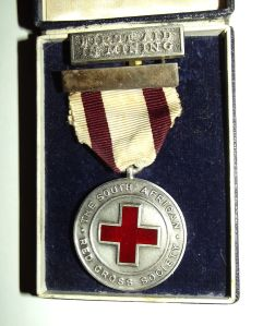 1940 South African Red Cross Silver Marked Mining Captain Award Lapel Pin Medal