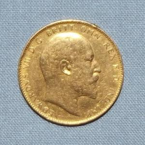 GREAT BRITAIN 1910 GOLD SOVEREIGN COIN