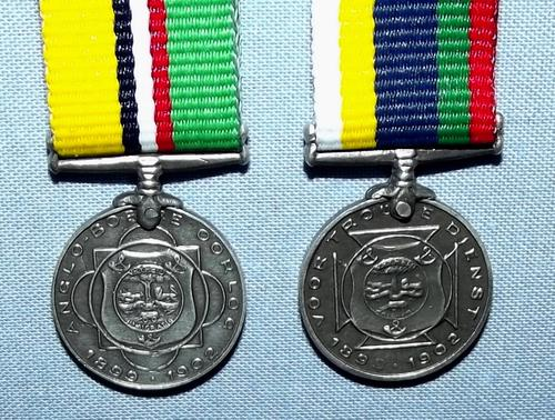South Africa Boer War ABO and Dekoratie Voor Trouwe Dienst Silver