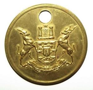 South Africa Pretoria Municipal Labour Brass Check Token