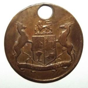 South African Labour Brass Check Token 1