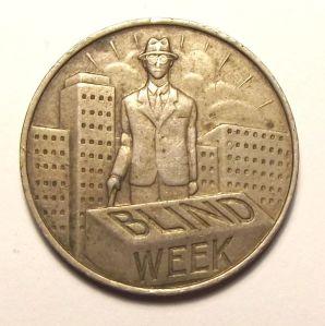 South African Mint Hallmarked BLIND WEEK Token