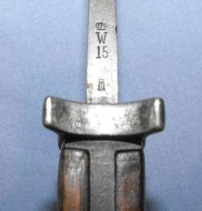 German Model 1898 Gewehr KAR 98 M98 Mauser Butchers Bayonet 1