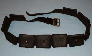 South African Boer War Mauser 10 Pocket Leather Bandolier