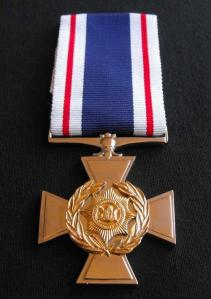 South African Police Silver Cross for Gallantry Full Size Medal 1
